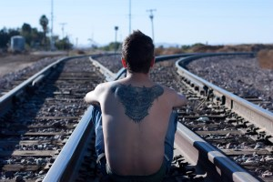 man on tracks